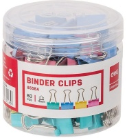 Deli Colour Fold Back Clips - 15mm Photo