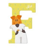 Sevi Wooden Letter F Fox Terrier Photo