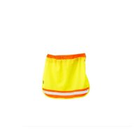 Atlantic Conversions - Safety Sun Neck Protector For Hard Hat Orange with Lime Reflective Strip Photo
