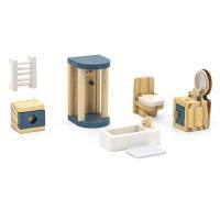 Viga Wooden Dollhouse Furniture Toilet Photo
