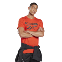 Reebok - Men's Gs Stacked Tee - Red Photo