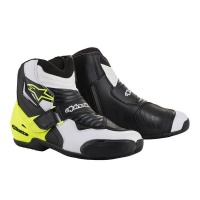 Alpinestars - SMX 1 Boot - Black White & Yellow Photo