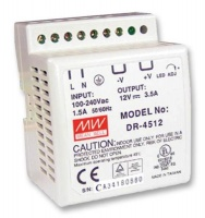 Mean Well DR-4512 AC/DC DIN Rail Power Supply Photo