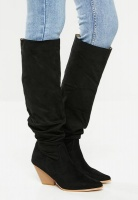 Women's Public Desire Cody Western Boot - Black Photo