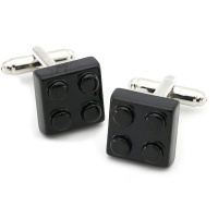 Black Lego Block Cufflinks Set Photo