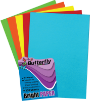 Butterfly Mixed A4 Bright Paper - Pack Of 250 Photo