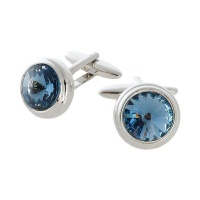 Civetta Spark Chris Cufflink - Swarovski Demin Blue Crystal Photo