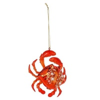 AK Glass Orange Crab Christmas Decoration Photo