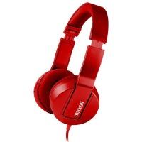 Maxell SMS-10 METALZ Mid Size Headphones - Ruby Photo
