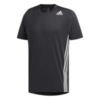 adidas - Men's FreeLift 3-Stripe Tee - Black Photo