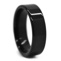 Xcalibur Men's Steel Black 6mm Ring SSVR9813 Photo