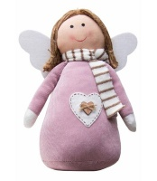 The Nordic Collection Nordic Large Pink Angel Xmas Christmas Décor Ornament or Door Stopper 30cm Photo