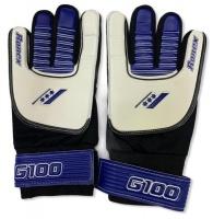 RONEX Soccer Goalkeeper Gloves G-100 White/Blue/Black Photo
