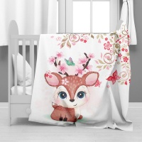 Print with Passion Baby Deer Minky Blanket Photo