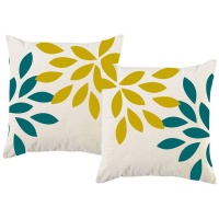 PepperSt – Scatter Cushion Cover Set – Leaf Pattern Photo