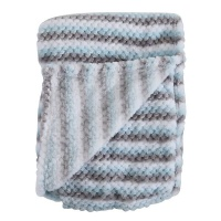 Snuggletime Honey Hive Fleece Blanket - Blue Photo