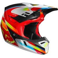 Fox Racing Fox V3 Motif Red/Yellow Helmet Photo