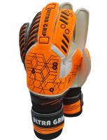 RONEX Goalkeeper Gloves with finger protection Ultra Grip Orange Photo
