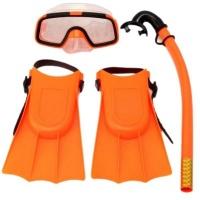 SourceDirect Junior Children's Mask And Snorkel Set With Flippers - Orange Photo
