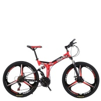 """26"""" Foldable Mountain Bike 21 Speed Red Color Photo"""