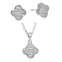 iDesire Rhodium Plated Clover CZ Set Photo