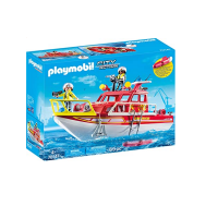 Playmobil 70147 City Action Floating Fire Rescue Boat with Underwater Motor Photo
