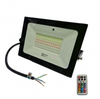 50W RGB Combat LED Floodlight - Colour Changing With Remote Photo