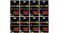 Trans Continental Marketing - Assorted Colours Chalk - 12 Colours - 8 Boxes Photo