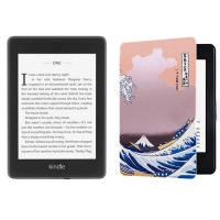 Kindle Paperwhite 10th Gen Wi-Fi With S/O 8GB - Great Wave Cover Bundle Photo