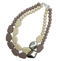 Lily & Rose Double Strand Wooden Bead Necklace Photo
