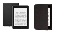 Kindle Amazon Paperwhite 8GB with Genuine Leather Cover Photo