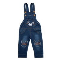 Demin Bear Patch Dungarees Photo