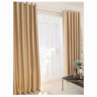 Matoc Designs Matoc Readymade Curtain 233cm Height -SelfLined Textured -Eyelet -LtApricot Photo