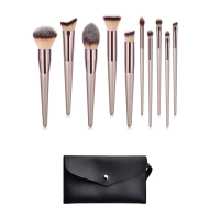 BeautyFX 10 Piece Champagne Makeup Brush Set Photo