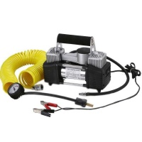 Heavy Duty Portable Air Compressor Dual Cylinder Direct Drive 12V Photo