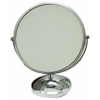 Giftbargains Chrome Pedestal Mirror with Normal and 5x Magnification Photo