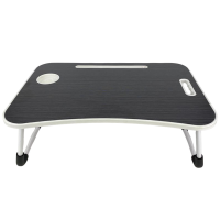 Portable Foldable Laptop Stand Desk for Bed & Sofa Bed Tray Desk -Black Photo