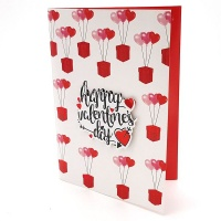 BUFFTEE Happy Valentines Day Card- Triple Balloon - Musical Led Card Photo