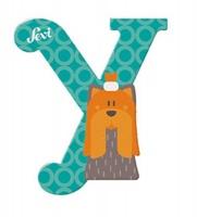 Sevi Wooden Letter Y Yorkshire Terrier Photo