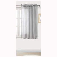 Matoc Designs Matoc Readymade Short Curtain 120cm Height -MysticVoile -RodPocket -Grey Photo