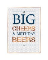 Copper Script Birthday - Greeting Cards Pack of 4 Photo