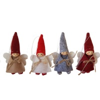 The Nordic Collection Nordic Tomte Felt Gnome Angel Xmas Christmas Tree Hanging Decor 4 Pack Photo