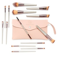 Gretmol Professional 14-Piece Make Up Brush Set Rose Gold with Pink Pouch Photo
