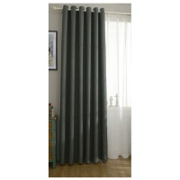 Matoc Designs Matoc Readymade Short Curtain - Blackout 110 x 123cm - Eyelet - DarkMoss - 2 Pack Photo