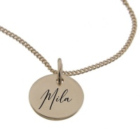 """""""""""Mila"""" Personalised Engraved Necklace in Rose Gold"""" Photo"""