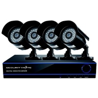 Securitymate CCTV 4 Channel HD DVR Security System Kit With 4 Cameras Black Photo