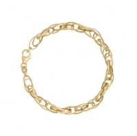 Art Jewellers - 9ct/925 Gold Fusion Lady's Fancy Oval Link Bracelet Photo