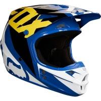 Fox Racing Fox V1 Race Blue Helmet Photo