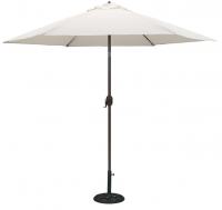 Patio Umbrella with Antique White Polyester Cover Photo
