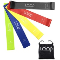 Resistance Loop Exercise Bands Set of 5 Fitness Gym Yoga Rehabilitation - Purple Photo